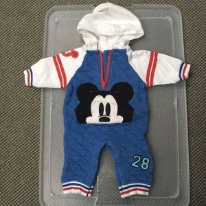 Disney Baby Mickey 0-3mo footless body suit